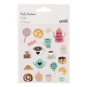 Uniti Puffy Stickers Cafe