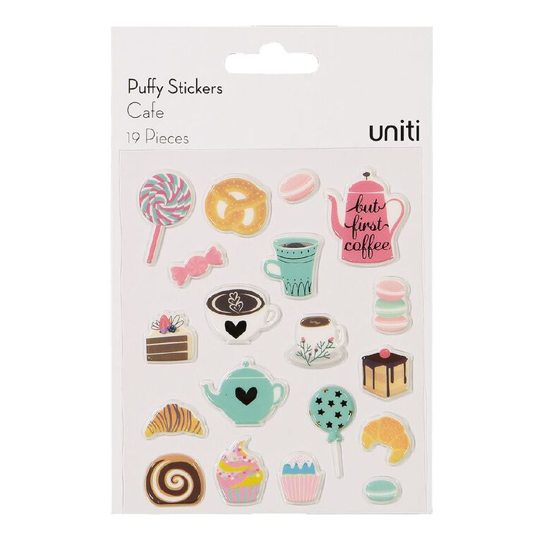 Uniti Puffy Stickers Cafe, , hi-res