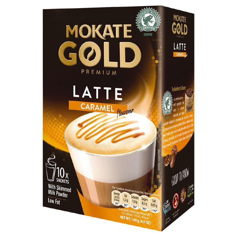 Mokate Gold Premium Latte Caramel 10 Sachets, , hi-res