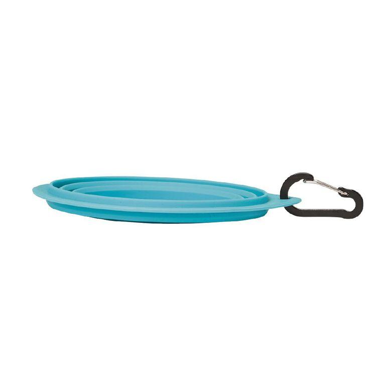 Petzone Collapsable Bowl Peacock Colour, , hi-res