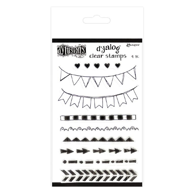Ranger Dylusions Dyalog Clear Stamps On the Edge, , hi-res