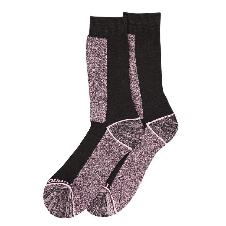 Darn Tough Women's Utility Crew Socks 2 Pack, Pink, hi-res image number null
