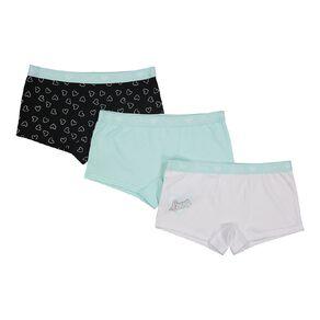 H&H Girls' Shortie Briefs 3 Pack