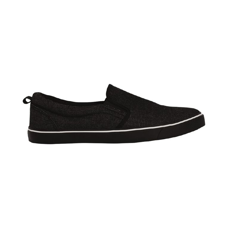 H&H Alex Slip On Shoes, Black, hi-res