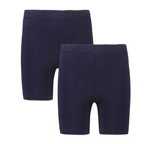 Young Original Girls' Plain Bike Shorts 2 Pack