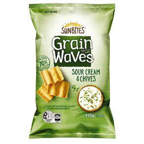 Sun Bites Grain Waves Sour Cream & Chives 110g 110g