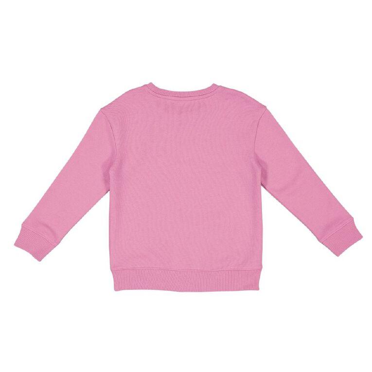 Young Original Printed Pullover Crew Sweatshirt, Pink Mid, hi-res