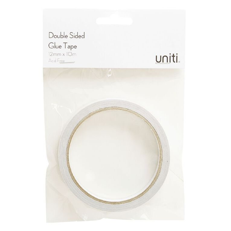 Uniti Double Sided Glue Tape 10m Clear 12mm, , hi-res
