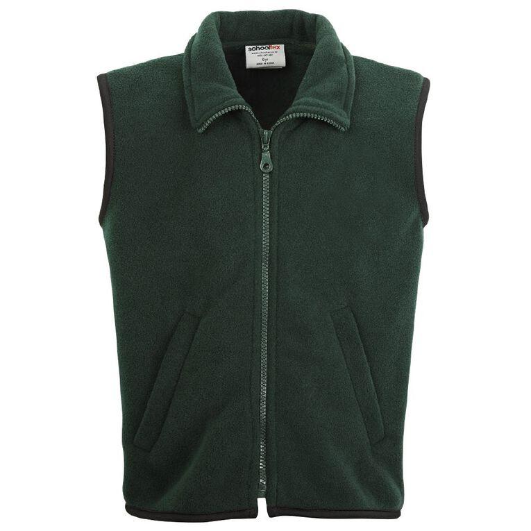 Schooltex Kids' Sleeveless Vest, Bottle Green, hi-res