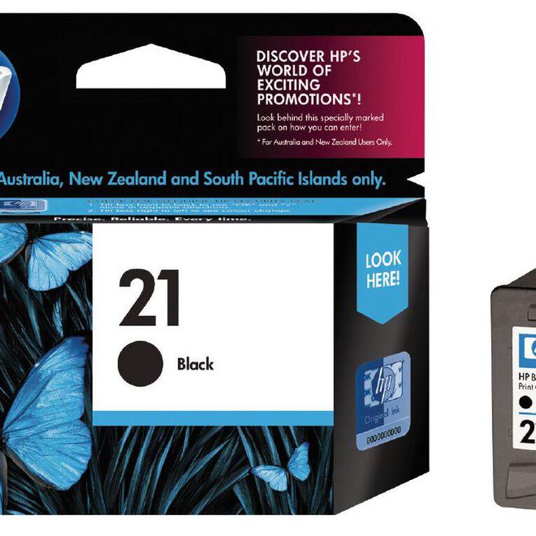 HP Ink Cartridge 21 Black (190 Pages), , hi-res