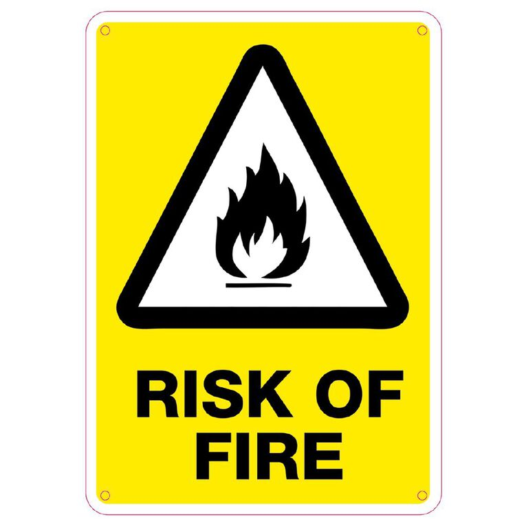 WS Risk of Fire sign Small 340mm x 240mm, , hi-res