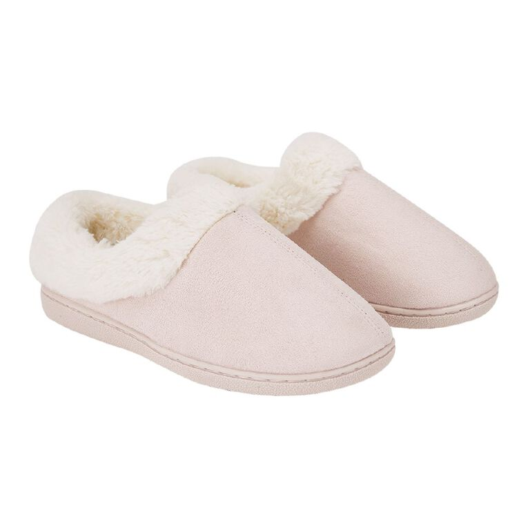 H&H Memory Scuff Slippers, Pink, hi-res