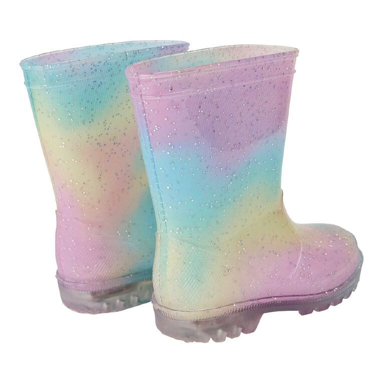Young Original Rainbow Light Up Gumboots, Pink Light, hi-res image number null