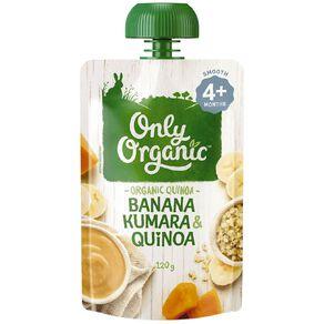 Only Organic Banana Kumara & Quinoa Pouch 120g