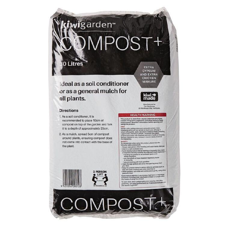 Kiwi Garden Compost Plus 30L, , hi-res