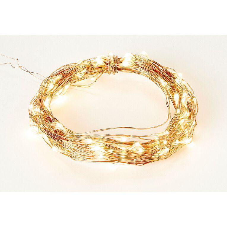 Living & Co Twinkle Light Warm White LED Copper 10m, , hi-res