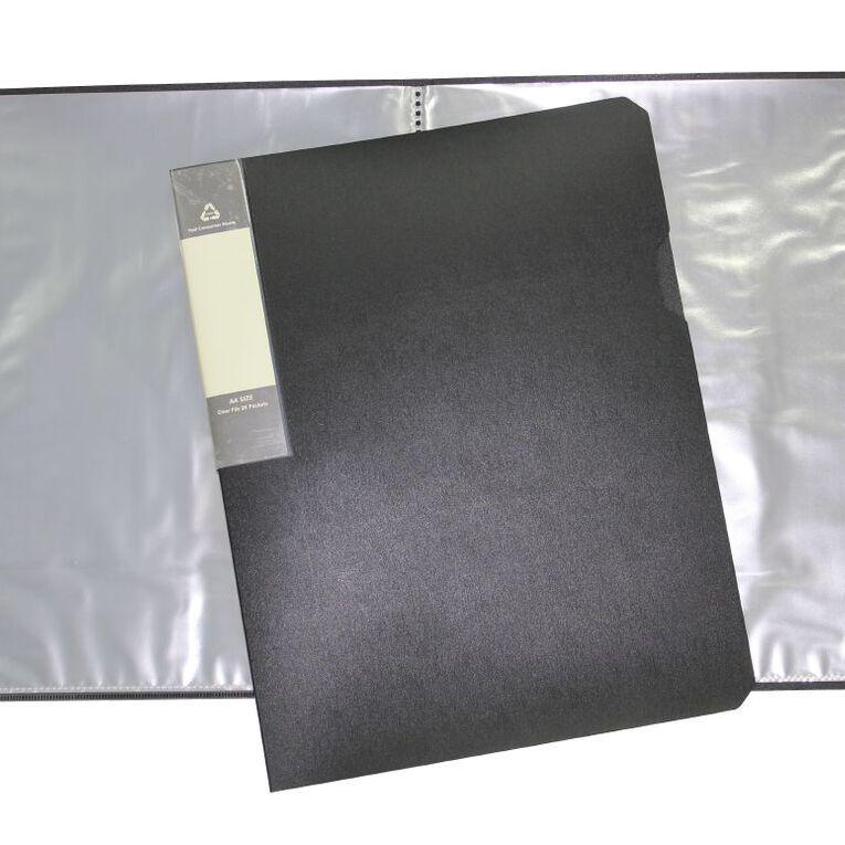 Office Supply Co Eco Display Book 20 Leaf Black A4, , hi-res