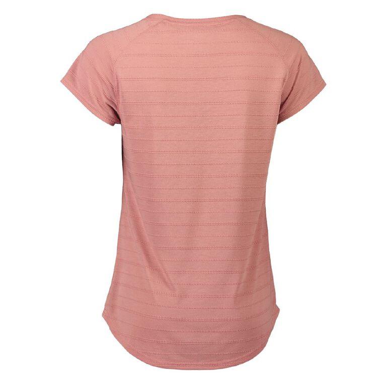Active Intent Women's Placement Print Raglan Tee, Pink Mid, hi-res
