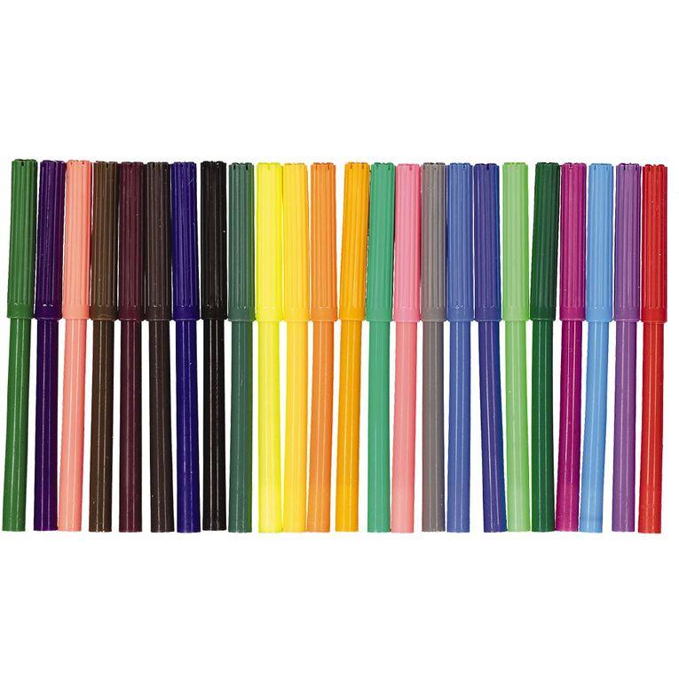 Kookie Felt Pens Multi-Coloured 24 Pack, , hi-res