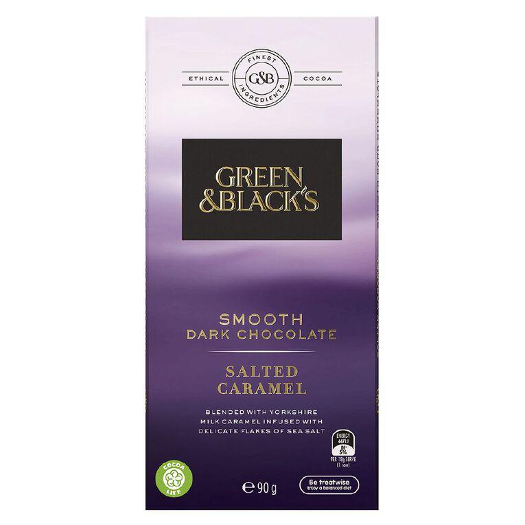 Green & Black's Green & Black's Velvet Edition Dark Salted Caramel 90g, , hi-res