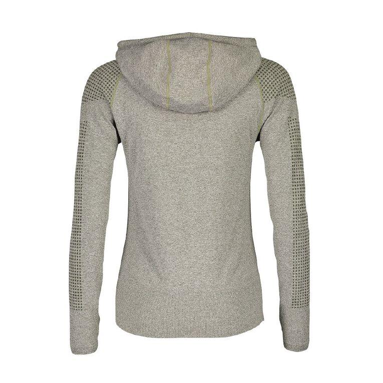 Active Intent Women's Seamless Hooded Sweatshirt, Green Dark, hi-res