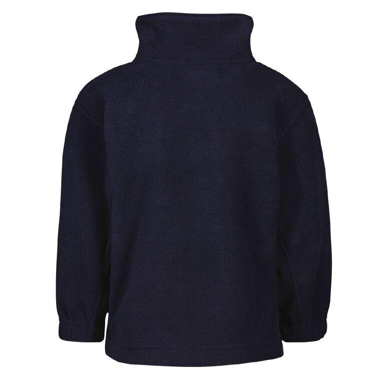 Schooltex Sanson Polar Fleece Top with Embroidery, Navy, hi-res