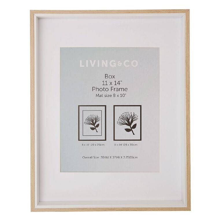 Living & Co Box Frame Natural 8in x 10in, Natural, hi-res