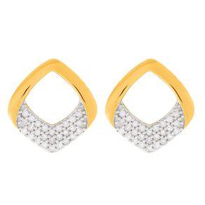 0.12 Carat Diamond 9ct Gold Twist Drop Stud Earrings