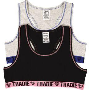 Tradie Girls' Crop 2 Pack