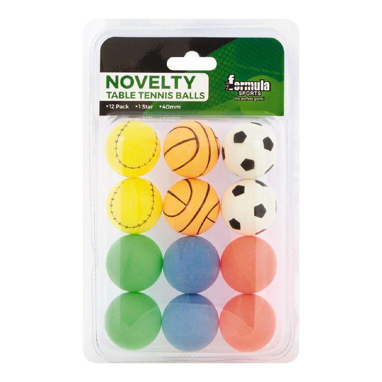 Formula Sports Novelty Table Tennis Balls 12 Pack, , hi-res