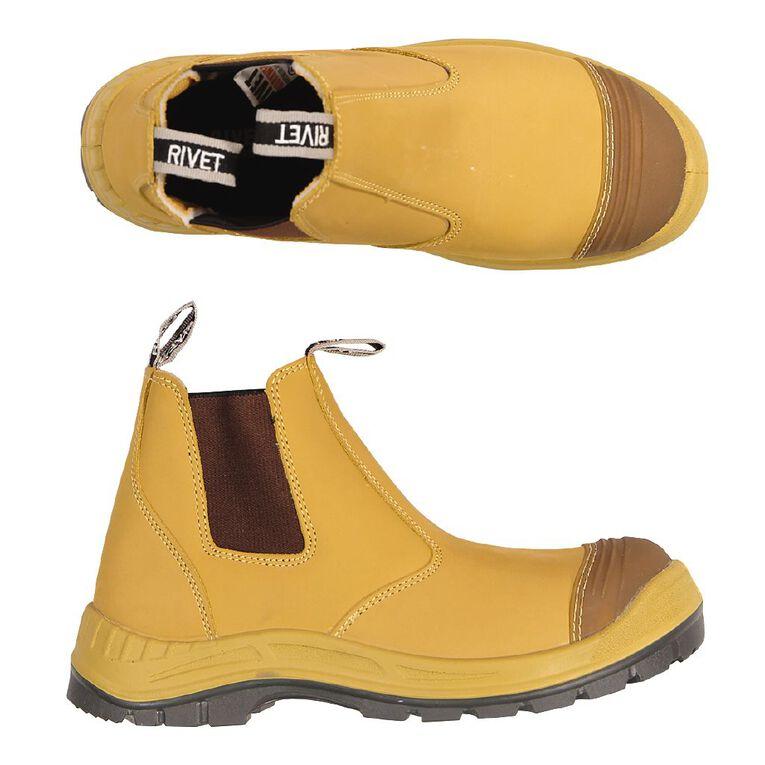 Rivet Men's Odion Slip On Work Boots, Beige, hi-res image number null