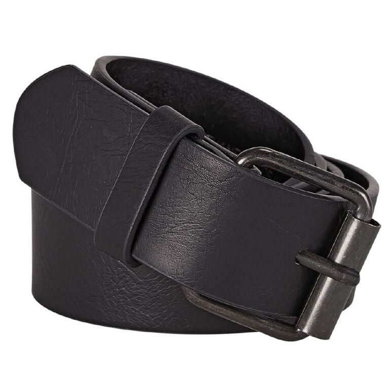 H&H Men's PU Belt, Black, hi-res