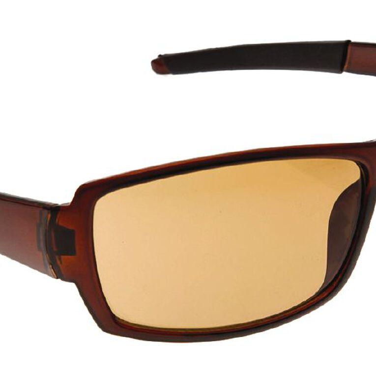 Beach Works Men's Classic Wrap Sunglasses, Brown, hi-res