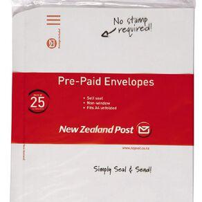 New Zealand Post Envelope Prepaid C4 Nonwindow Selfseal 25 Pack