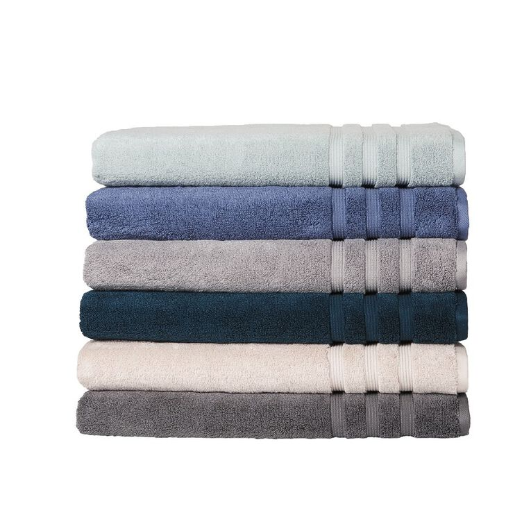 Living & Co Montreal Spa Towel Pewter Charcoal 90cm x 150cm, Charcoal, hi-res