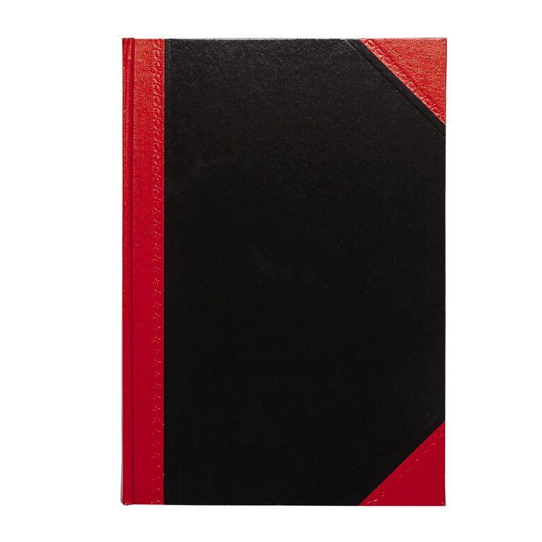 Spirax Notebook Casebound Black/Red A4, , hi-res