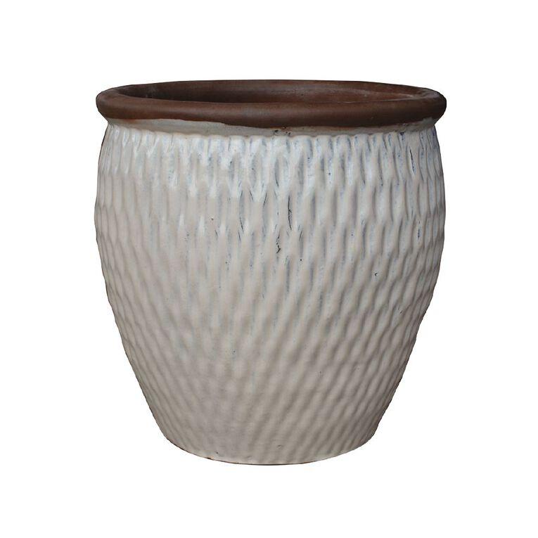 Kiwi Garden Glazed Terracotta Pot 38cm, , hi-res
