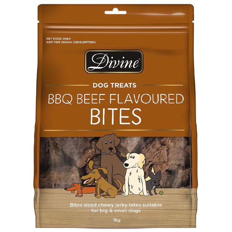 Divine Dog Treats BBQ Beef Bites 1kg, , hi-res