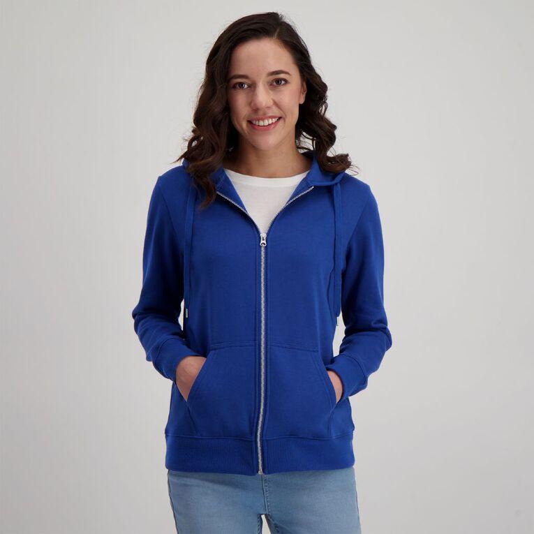 H&H Women's Zip Thru, Blue Dark, hi-res