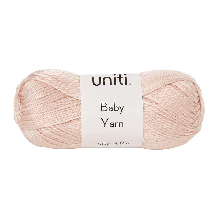 Uniti Yarn Baby Acrylic 4 Ply Pink 50g, , hi-res