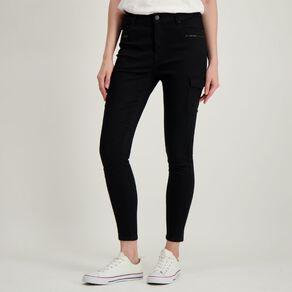 H&H Women's Zip Cargo Jeans