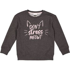 Young Original Girls' Printed Crew Sweatshirt