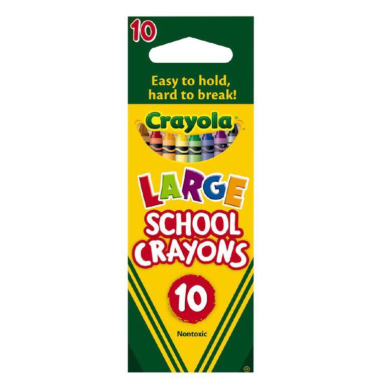Crayola Large School Crayons 10 Pack, , hi-res