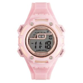 Active Intent Women's Sports Digital Watch Pink Rose Gold