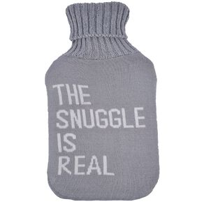 Living & Co Hot Water Bottle Cover Knitted Snuggle
