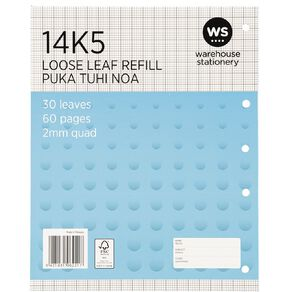 Impact Pad Refill 14K5 2mm Quad 30 Leaf Punched Blue