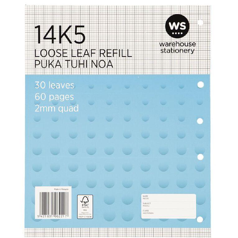 Impact Pad Refill 14K5 2mm Quad 30 Leaf Punched Blue, , hi-res
