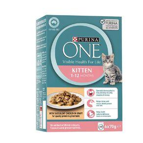 Purina ONE Cat Kitten Formula with Chicken MP (6x70g)