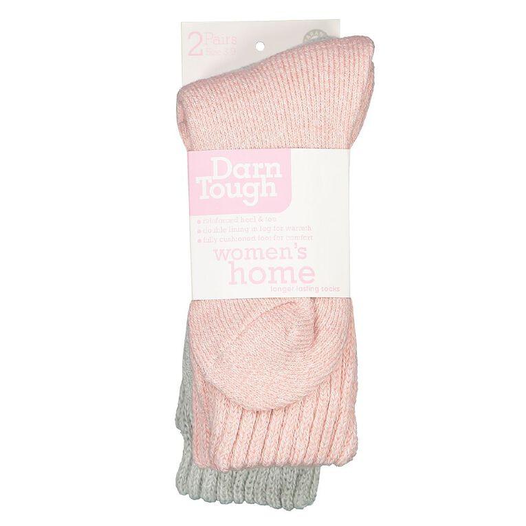 Darn Tough Women's Chunky Rib Crew Socks 2 Pack, Pink Light, hi-res