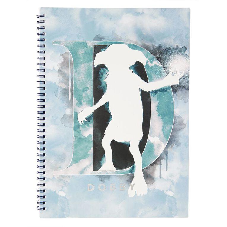 Harry Potter Spiral Notebook Dobby Blue Light A4, , hi-res